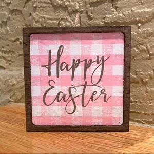 FARMHOUSE PLAID HAPPY EASTER SIGN